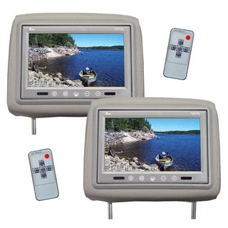 "Tview 9"" Tft Lcd Monitor In Headrest Ir Trans Gray"