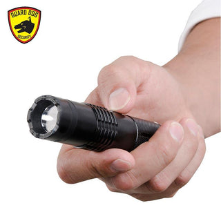 Guarddog Electrolite 140 Lumen Compact Tactical Flashlight Max Volt Stun Gun Beltclip Black
