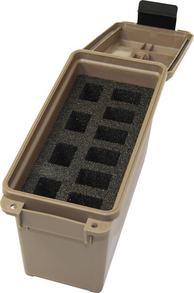 Mtm Tactical Mag Can -for 10 Double Stacked Handgun Mags Dark Earth