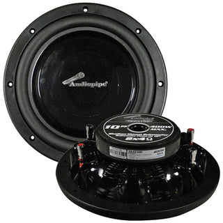 "Audiopipe 10"" Shallow Mount Woofer 400w Max 4 Ohm Dvc"