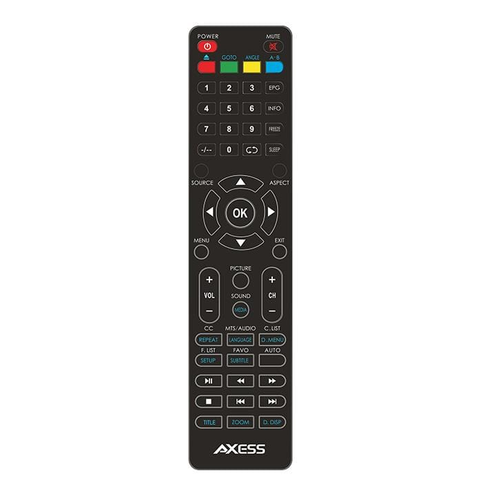 Axess 24 In Hd Tv Dvd Combo W-external Soundbar Speaker Sd Card Acdc Power Hdmi Port Remote
