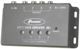 Video Amplifier Power Acoustik1 Input-4 Outputs