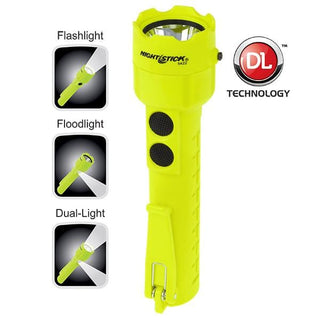 Nightstick Safety Rated Led Flashlightfloodlightduallight Green