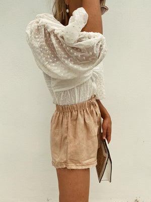 CHUCKS LINEN SHORTS BLUSH