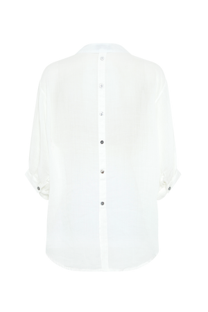 THE WHITE STEVIE LINEN SHIRT