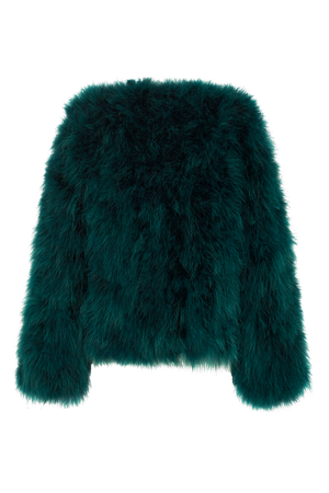 EMERALD FEATHER JACKET