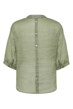 THE KHAKI STEVIE LINEN SHIRT