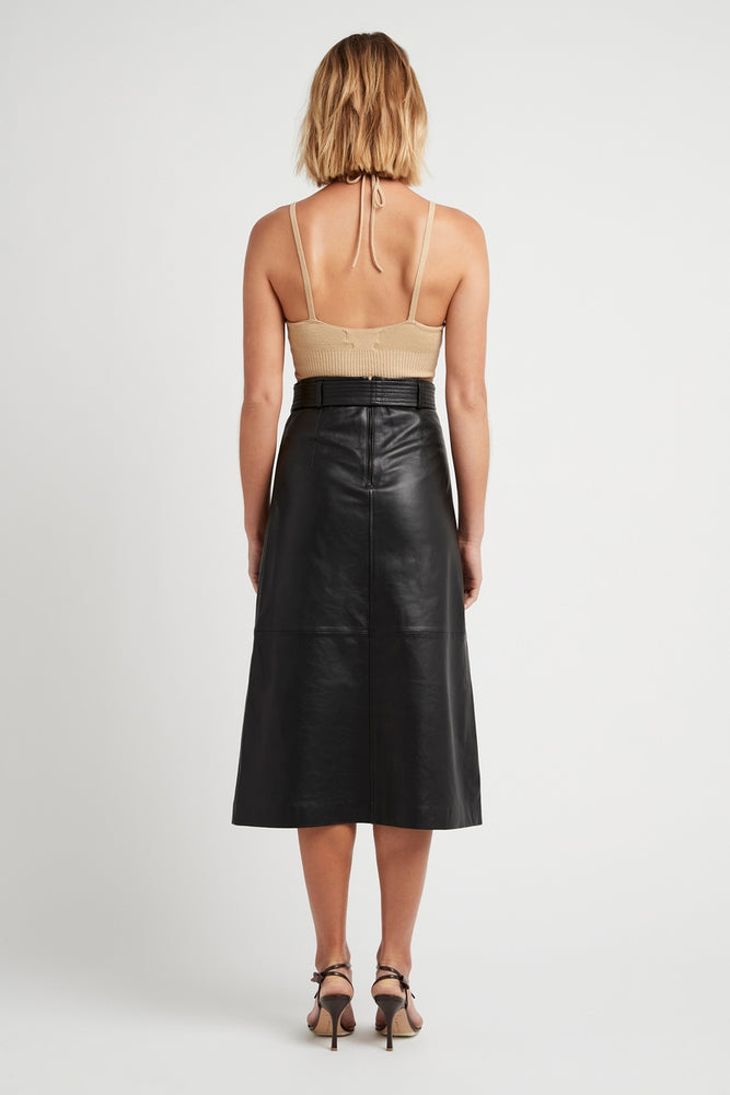 THE BELLA LEATHER SKIRT