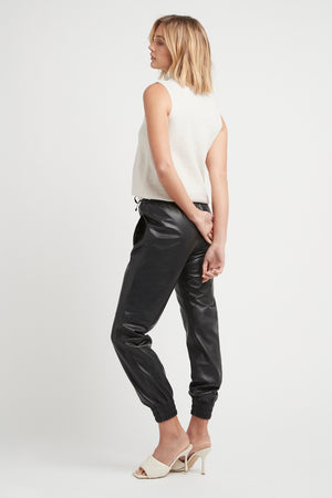 THE LEATHER JOGGERS