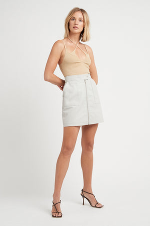 THE JAGGER LEATHER SKIRT