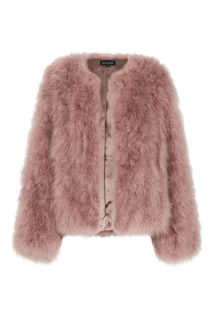 BLUSH FEATHER JACKET