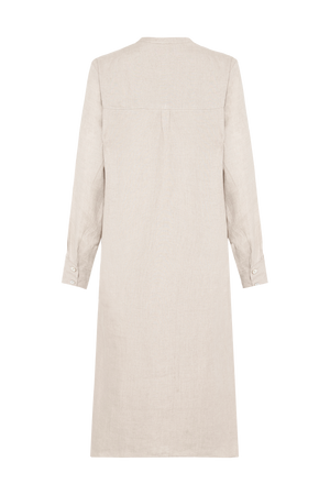 AMALFI LINEN DRESS NATURAL