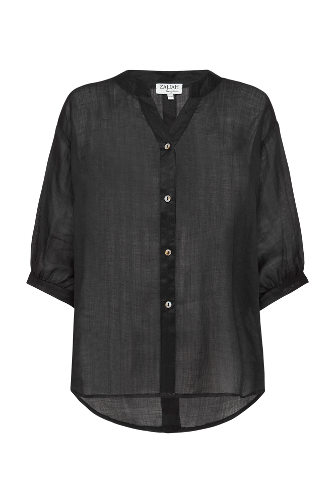 THE BLACK STEVIE LINEN SHIRT