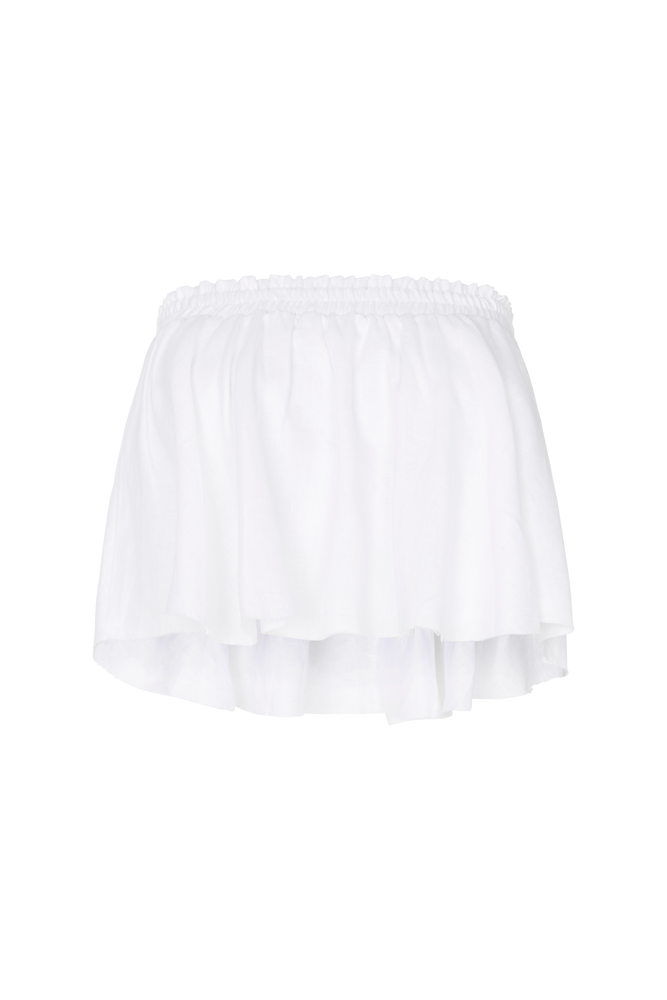 BABY DOLL FRILL TOP WHITE