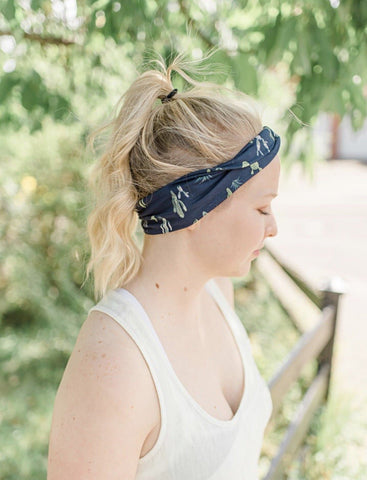 Cactus Jersey Knit Running Headband - Athena Fitness Collections