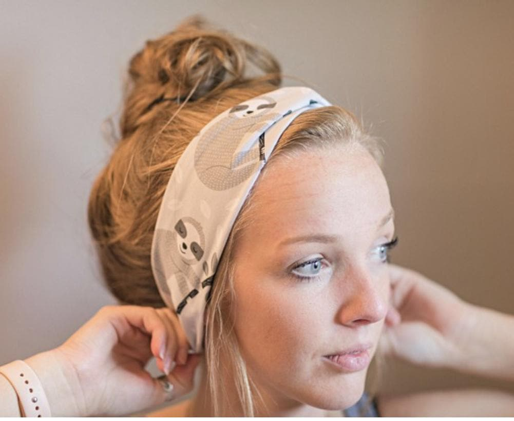 Sloths Moisture Wicking Headbands - Athena Fitness Collections