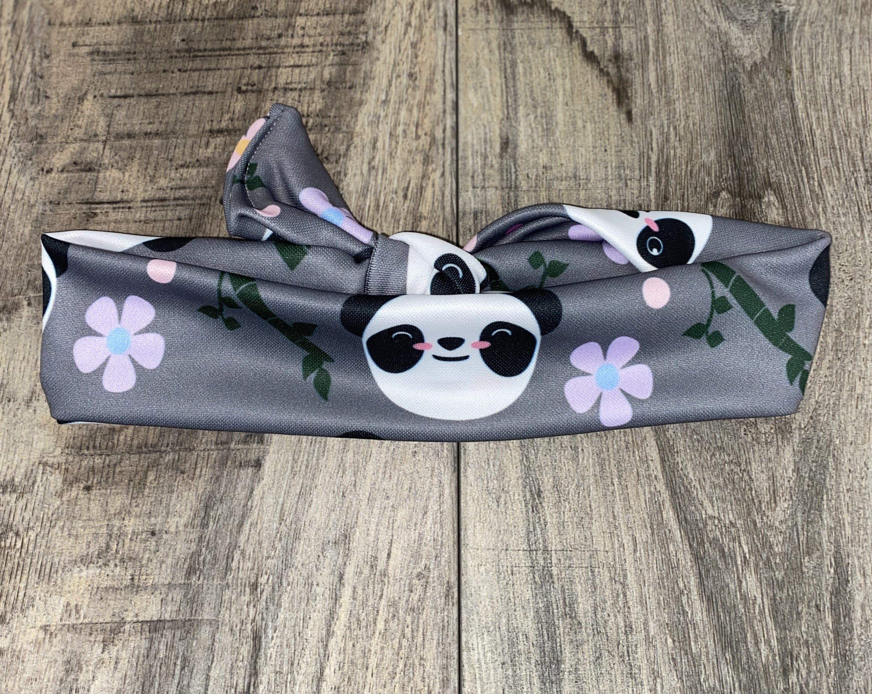 Sweet Panda Knotted Headband - Athena Fitness Collections