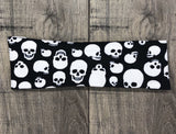 Black and White Skull Workout Headband - Athena Fitness Collections