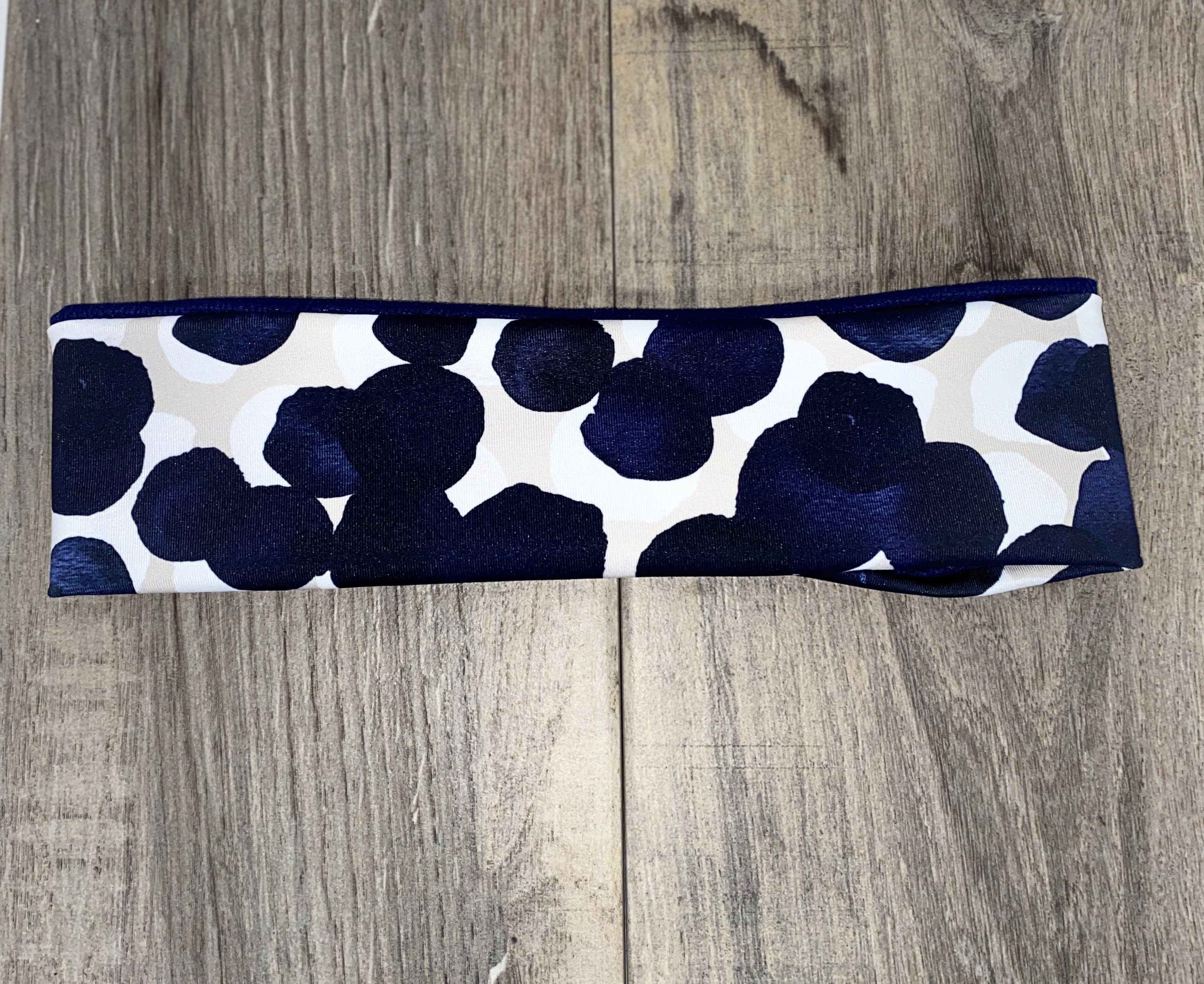 Navy Circles Workout Headbands - Athena Fitness Collections