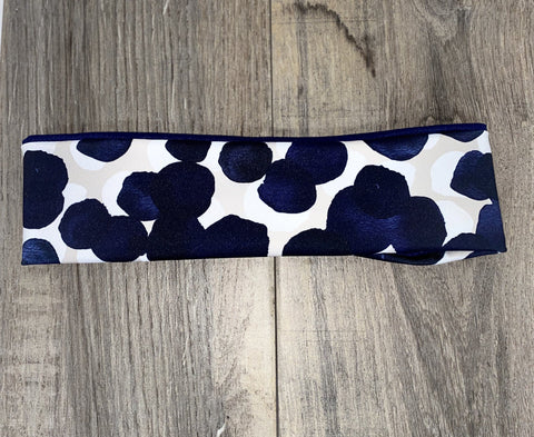 Navy Circles Workout Headbands - Greeciegirl Fitness Apparel