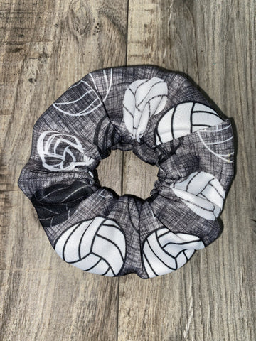 Grey Ombre Volleyball Scrunchie - Athena Fitness Collections