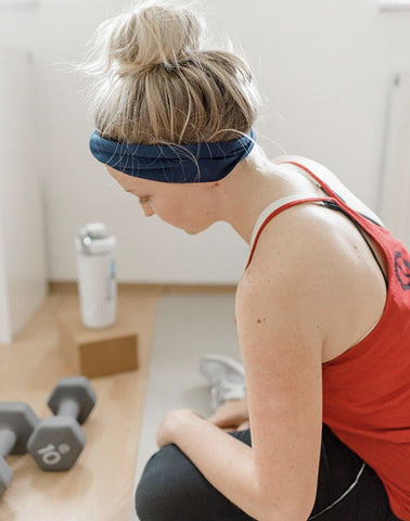 Solid Navy Jersey Knit Headband - Athena Fitness Collections