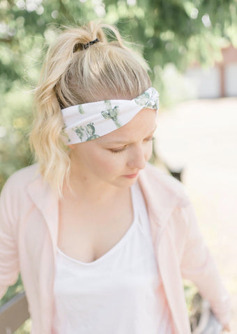 Cactus Running Headbands for Women - greeciegirl-fitness-apparel