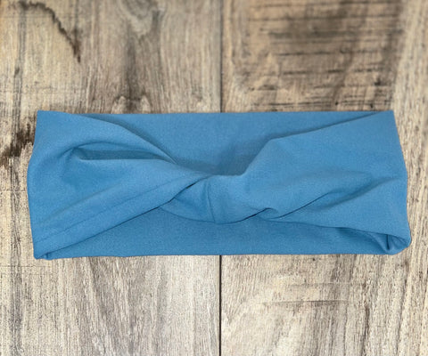 Solid Blue Jersey Headband
