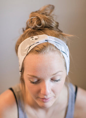 Sloths Jersey Knit Headband - Athena Fitness Collections