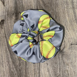 Softball Scrunchies For Girls - Athena Fitness Collections