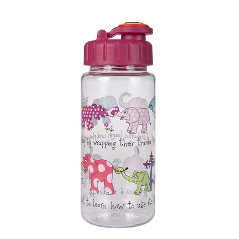 Tritan Drinking Bottle wiht removable Pop Up Straw Elephants