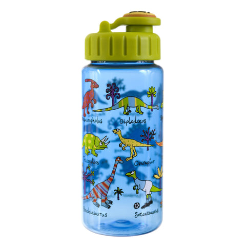 Tritan Drinking Bottle wiht removable Pop Up Straw Dinosaurs