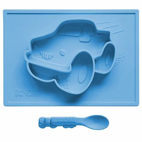 Todler Suction plate Camion Azul fuerte
