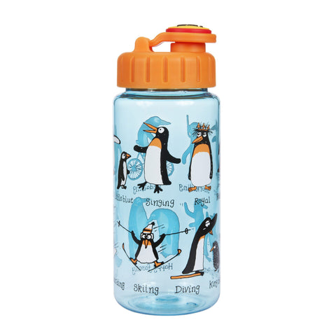 Tritan Drinking Bottle wiht removable Pop Up Straw Penguins