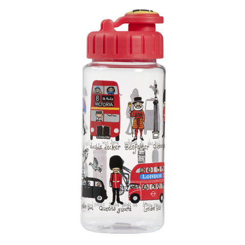 Tritan Drinking Bottle wiht removable Pop Up Straw London