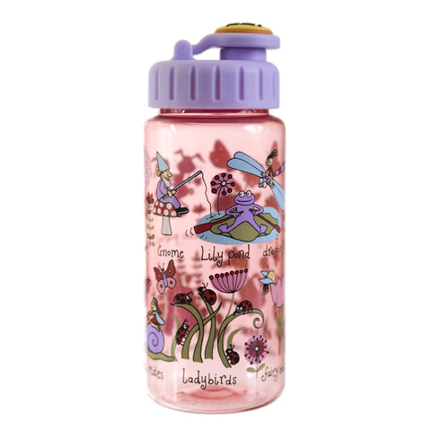 Tritan Drinking Bottle wiht removable Pop Up Straw Secret Garden