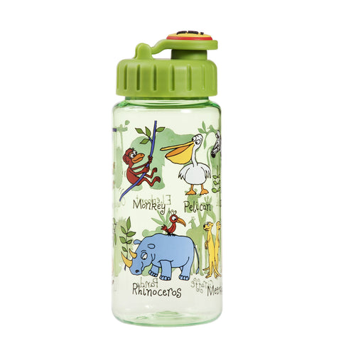 Tritan Drinking Bottle wiht removable Pop Up Straw Jungle