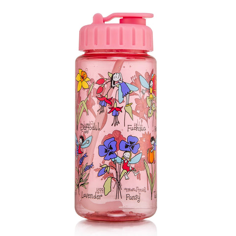 Tritan Drinking Bottle wiht removable Pop Up Straw Flower Fairy
