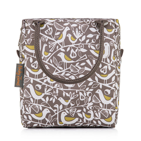 Lunch Bag Grey Doves