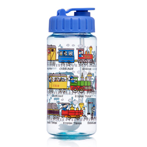 Tritan Drinking Bottle wiht removable Pop Up Straw Trains
