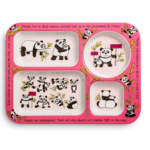 Compartment Tray Pandas