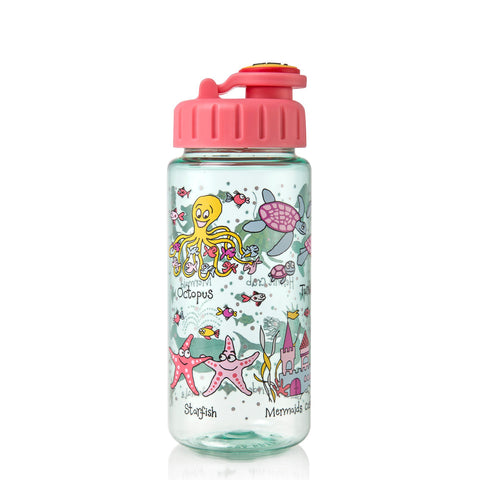 Tritan Drinking Bottle wiht removable Pop Up Straw Under the Sea