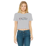 1Stop Festy Supply Shop  Dirt Monkey Music  Women's Cropped Raw Edge T-Shirt