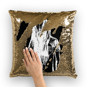 Bassnectar Sketch Sequin Pillow Cover - 1Stop Festy Supply Shop
