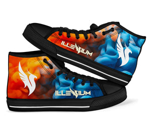 Illenium Fire & Ice High Top Shoes -Music Festival Essentials-1StopFestyShop.com