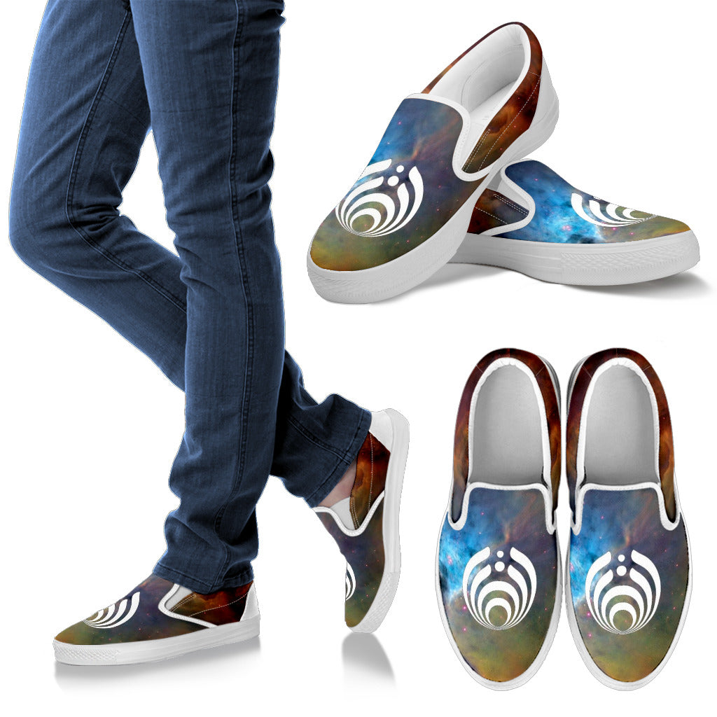 1Stop Festy Supply Shop  Bassnectar Galaxy Slip On Shoes