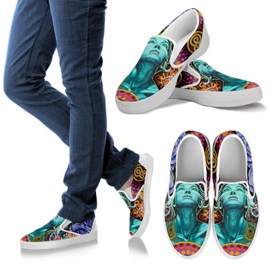 1Stop Festy Supply Shop  Bobby's Face Women's Slip On Shoes