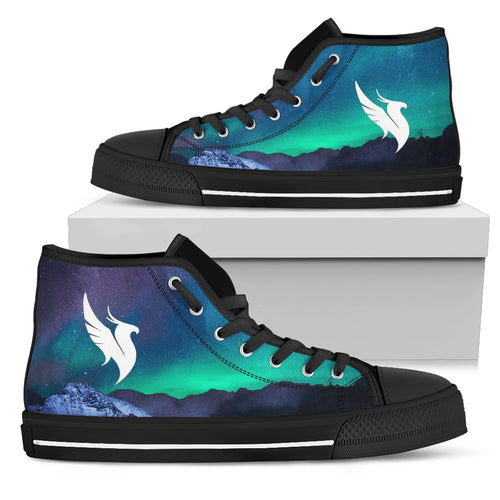 Illenium Shoes Northern Lights High Top Shoes -Music Festival Essentials-1StopFestyShop.com