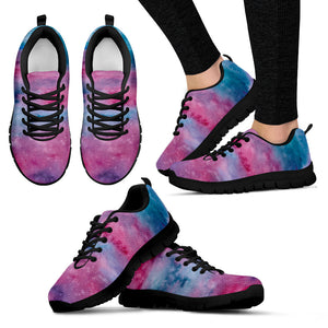 Pink Watercolor Festival Sneaker Shoes -Music Festival Essentials-1StopFestyShop.com