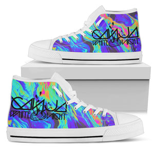 1Stop Festy Supply Shop  Ganja White Night High Top Shoes